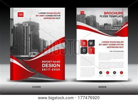 company profile book design template red color scheme city background vector photo bigstock