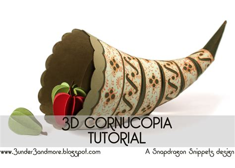 How To Make A Cornucopia Out Of Paper - 3 3 and more 3d cornucopia