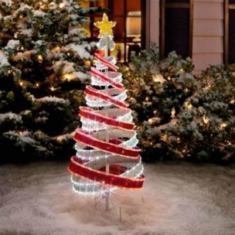 4 foot lighted outdoor red white tube light ribbon
