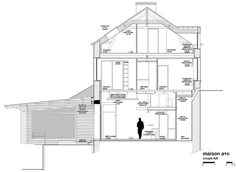 section of a house plan sunny house raised above the ground level in the bohemian