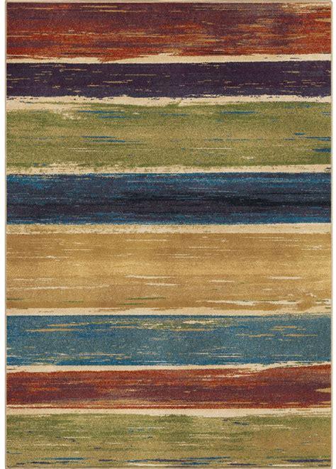 Rainbow Stripe Rug Orian Rugs Bright Color Abstract Beach House Stripe Multi