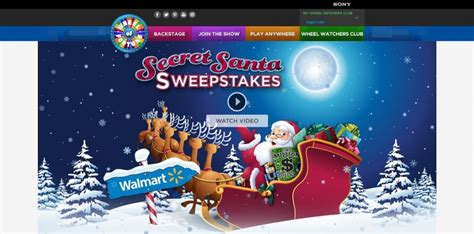 Www Wheeloffortune Com Sweepstakes - wheel of fortune sears secret santa spin id sweepstakes