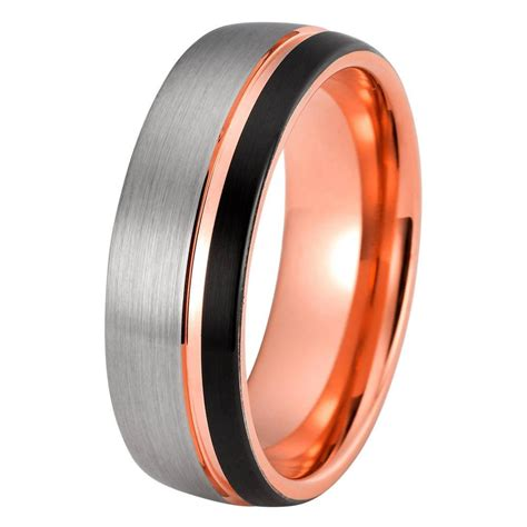 Tungsten Ring Wedding by Mens Gold Wedding Band Tungsten Wedding Rings