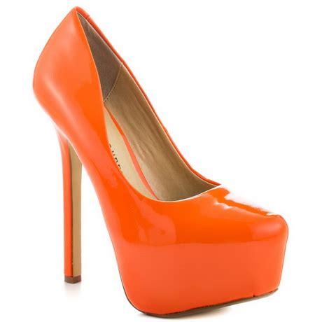bright orange high heels orange high heel shoes
