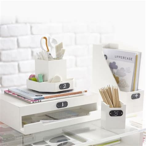 pretty desk accessories wooden desk accessories pbteen