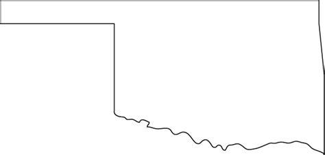 Oklahoma Outline Map