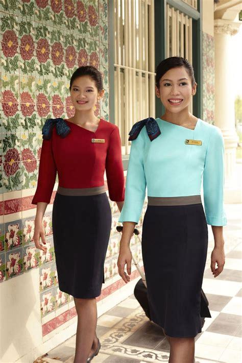 flight attendant wear bangs silk air cabin crew glamorous cabin crew pinterest