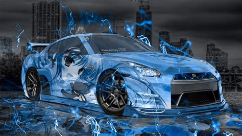 neon nissan nissan gtr r35 jdm anime aerography city car 2015