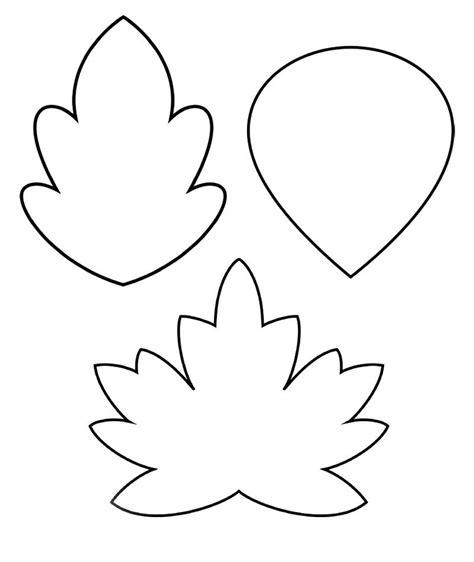 decorar hoja arbol siluetas hojas arboles para colorear imagui