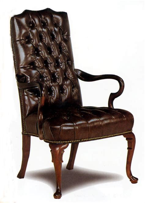 Arm Chairs by Leather Office Furniture Fully Tufted Leather Gooseneck