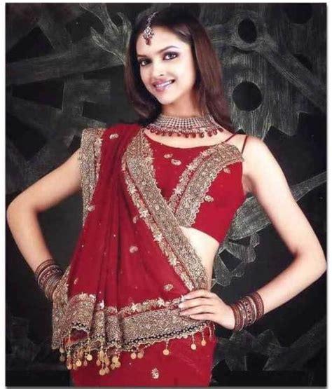 deepika padukone red saree deepika in a red hot saree bollywood vogue