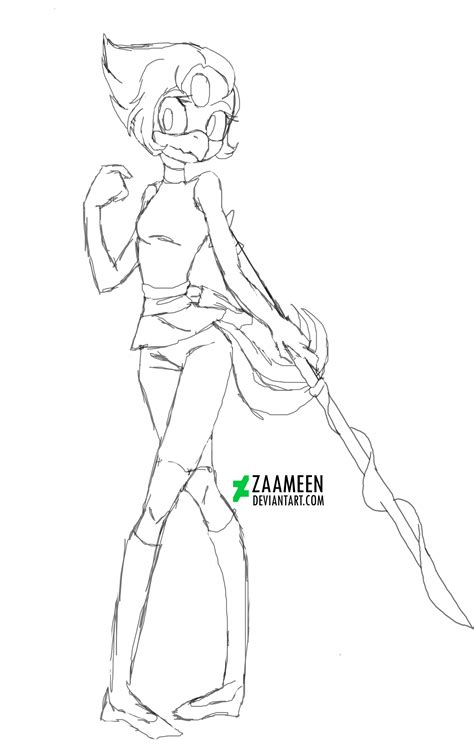 steven universe - Pearl The Crane (free coloring) by