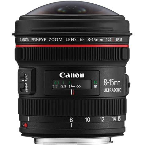 canon ef canon ef 8 15mm f 4l fisheye usm lens 4427b002 b h photo