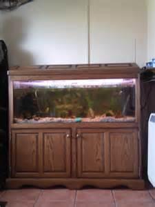 Oak Cabinet Fish Tanks 4ft Fish Tank Solid Oak Cabinet Furniture Tropical In