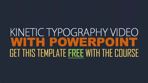 kinetic typography template free download best and