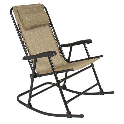 Rocking Recliner Garden Chair Best Choice Products Folding Rocking Chair Rocker Outdoor Patio Furniture Beige Ebay
