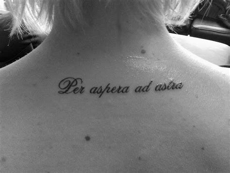 per aspera ad astra tattoo per aspera ad astra through hardship to the