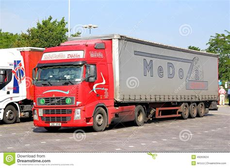 volvo truck service germany volvo fh12 editorial stock image image of fast carrier
