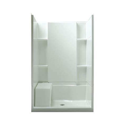 Sterling Shower Units by Sterling Accord Seated 36 In X 48 In X 74 1 2 In Shower
