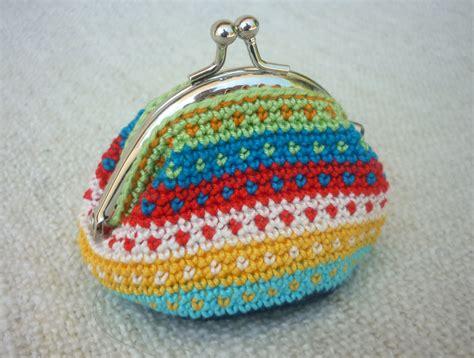 Crochet Pattern Frame Purse | tapestry crochet coin purse