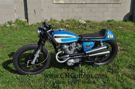 honda house strit s court house custom honda cl450 cafe project