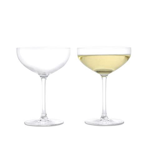 wine glass premium set of two chagne glasses