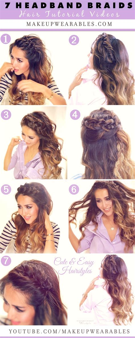 cute hairstyles and how to do it seven cutest headband braids to try in 2015 hair tutorial