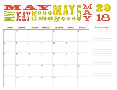May 2018 Calendar Editable Latest Calendar Editable Schedule Template