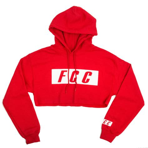 Lsl Jaket Sweater Ugh Crop Hoodie fcc crop box logo hoodie in
