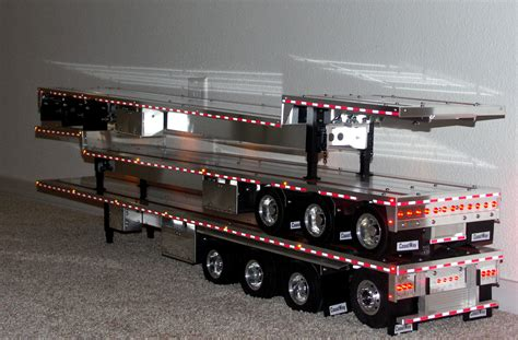 Tamiya Trailer custom aluminum flatbed trailers for tamiya trucks