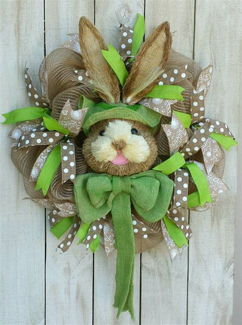 easter wreath ships in three days burlap bunny wreath easter wreath bunny
