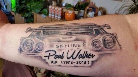 paul walker tattoo paul walker rip tattoos piercings gallery