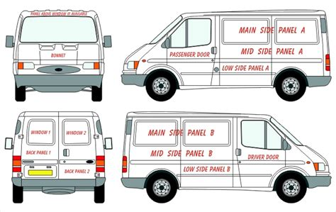 vehicle graphic templates ford transit lwb hi top vehicle wrap lettering