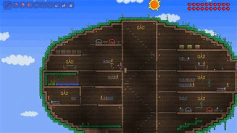 terraria tree house terraria tree house 1 youtube