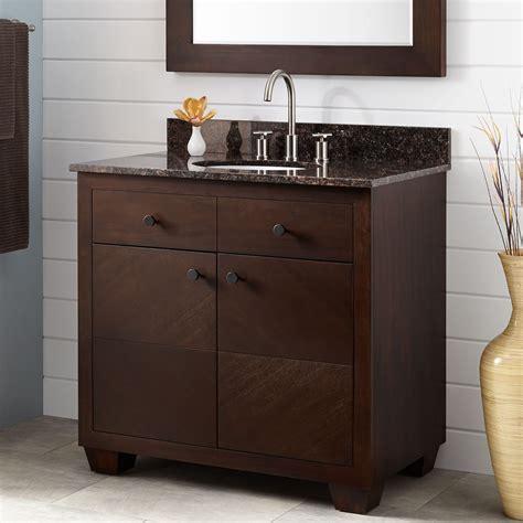 espresso cabinets with bronze hardware 36 quot faron mahogany vanity for undermount sink espresso