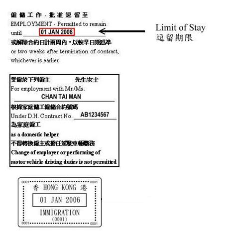 Proof Of Employment Letter Hong Kong Govhk Current Limit Of Stay