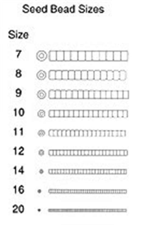 seed bead size chart seed earth crafts