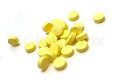 And Yellow Capsule Pill Detox by Yellow Pills Stock Photo Colourbox