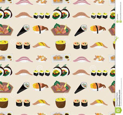 japanese meal pattern seamless japanese food pattern stock photo image 19844060