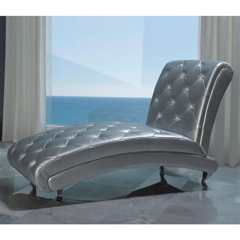 silver chaise lounge dupen lorena chaise lounge in silver lorenachaise