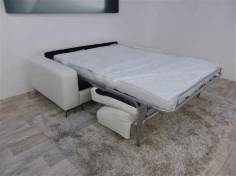 Natuzzi Editions High Point 3 Seater Sofa Bed Furnimax Natuzzi Leather Sofa Bed