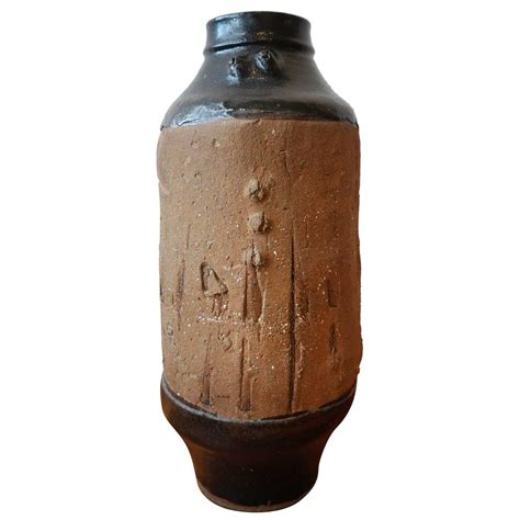 Big Floor Vase by Large Brutalist Ceramic Floor Vase At 1stdibs