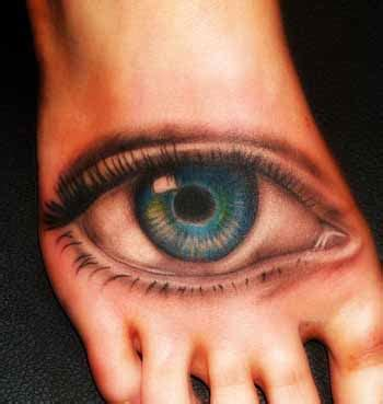 eye tattoo on ankle 3d eye tattoo on right foot tattooshunt com