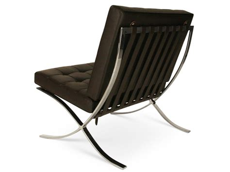 famous designer chairs barcelona chair brown