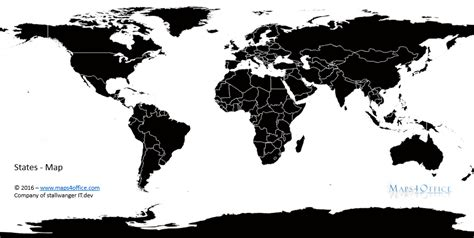 world map black and white for commercial use maps4office
