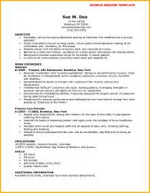 Free Nursing Resume Template by 8 Sle Cna Resume Bursary Cover Letter