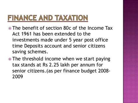 section 25 of income tax act presentation on senior citizen