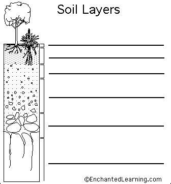 layers of the soil diagram soil layers printout enchantedlearning