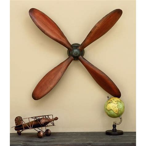Propeller Decor by Uma 32 In X 32 In Bell Design Wall Hanging 26723 The Home Depot