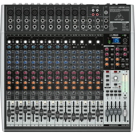 Mixer Behringer Xenyx 1204fx behringer xenyx x2442usb mixer at gear4music